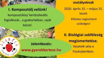 Szemléletformálás a Füvészkertben program iskolásoknak 2020